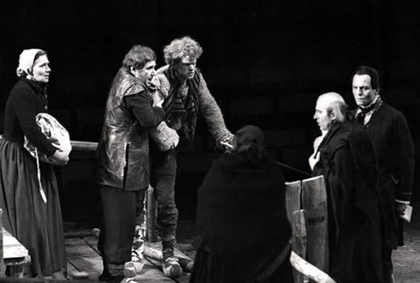 René Peier in 'Der zerbrochene Krug', 1978 Staatstheater Karlsruhe