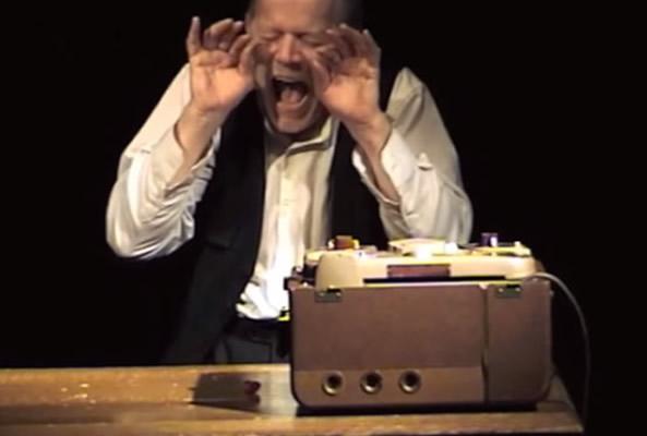 René Peier spielt Krapp in 'Das Letzte Band', Tournee (Keller 62)