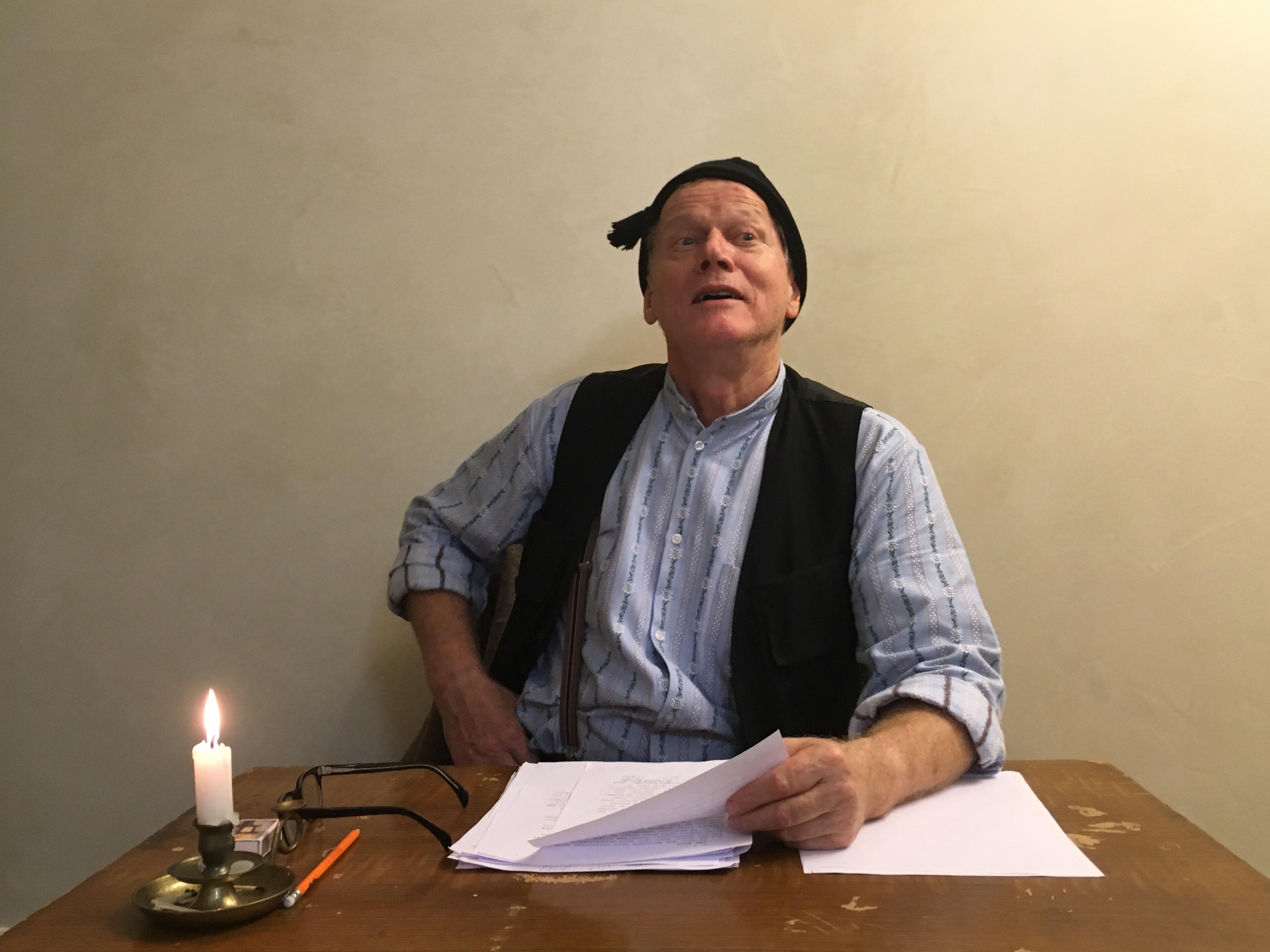 René Peier - Wiederaufnahme 'Der arme Mann im Tockenburg' (Ulrich Bräker), Regie: Stephen Tree