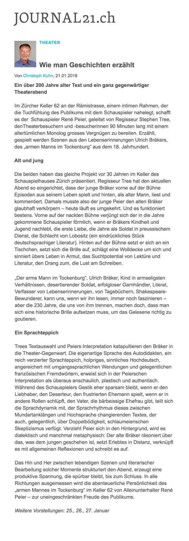 Kritik_J21_René Peier in_Der arme Mann im Tockenburg_Keller62