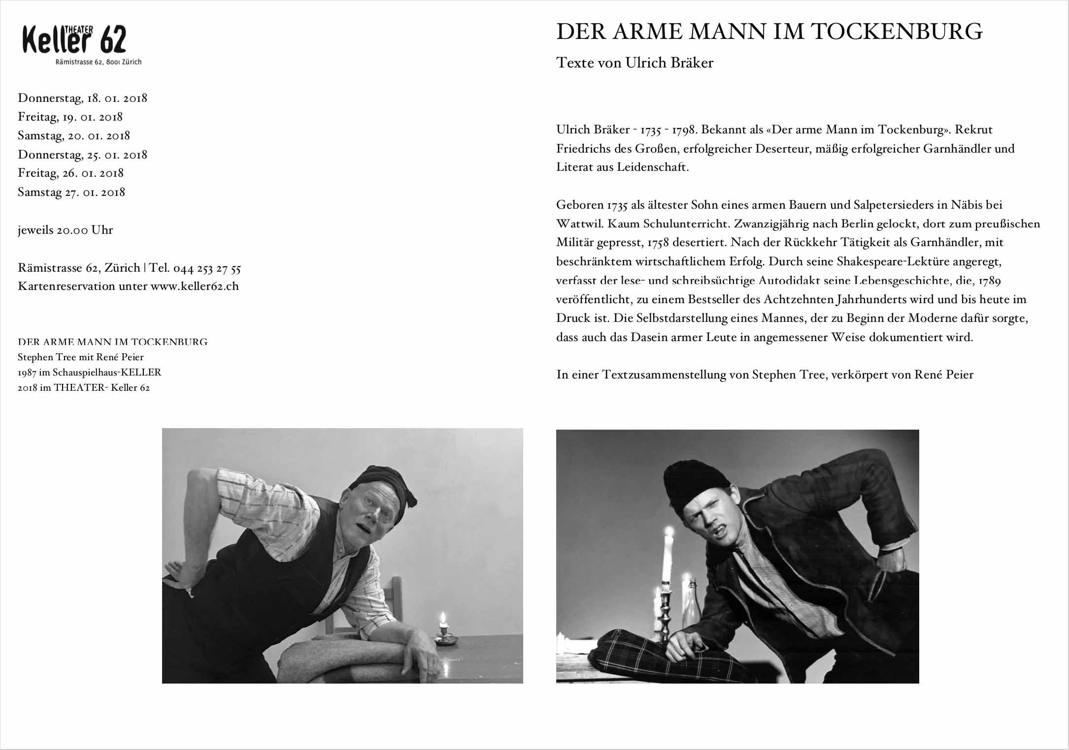 René Peier in 'Der arme Mann im Tockenburg', Keller62